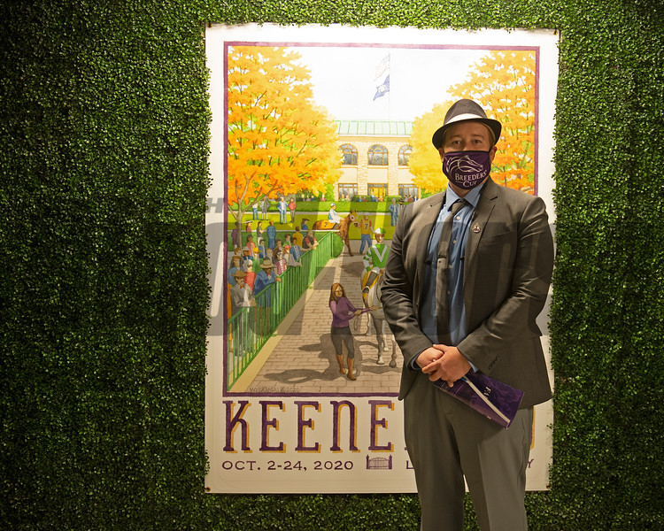Scenes at Keeneland  on October 3, 2020.