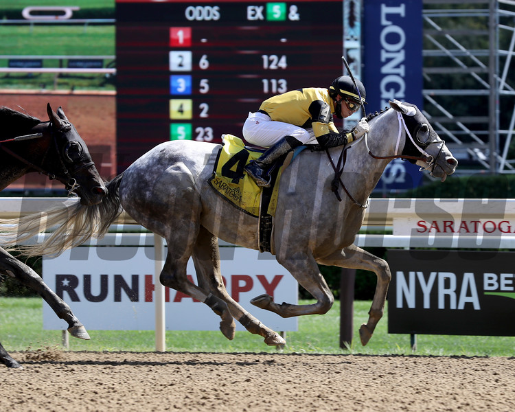 Chestertown wins the 2020 Albany Stakes at Saratoga<br /> Coglianese Photos/Janet Garaguso