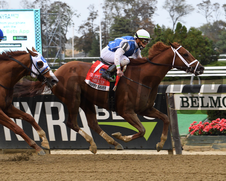 Happy Saver wins the 2020 Jockey Club Gold Cup at Belmont Park <br /> Coglianese Photos/Janet Garaguso