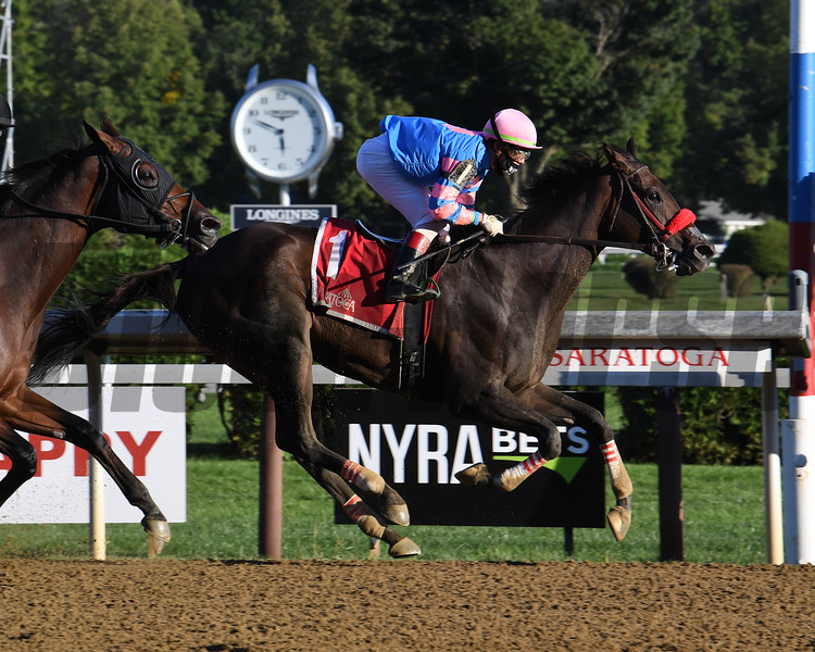 Come Dancing wins the 2020 Honorable Miss Handicap at Saratoga<br /> Coglianese Photos/Susie Raisher