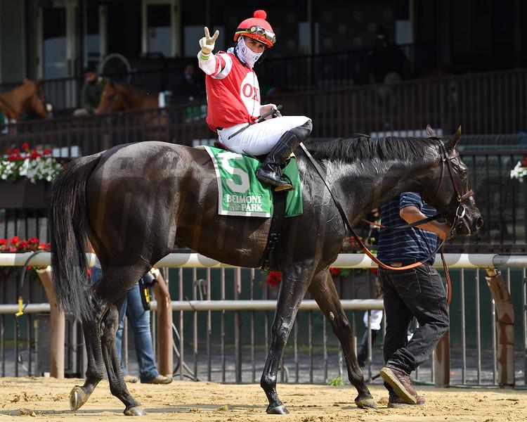 Instilled Regard wins the 2020 Fort Marcy Stakes at Belmont Park.<br /> Coglianese Photos/Joe Labozzetta