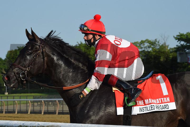 Instilled Regard wins the 2020 Manhattan Stakes at Belmont Park<br /> Coglianese Photos/Chelsea Durand