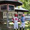 Tyler Gaffalione and Jose Ortiz watch the Haskell <br /> Coglianese Photos/Susie Raisher