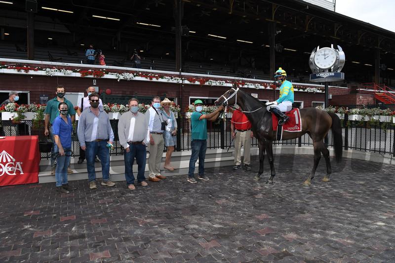 Cross Border wins the 2020 Lubash Stakes at Saratoga<br /> Coglianese Photos