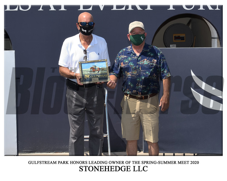 Leading Owner - Stonehedge LLC - Gulfstream Park. Photo: Coglianese Photos