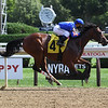 No Mo' Spending wins maiden special weight Sunday, August 30, 2020 at Saratoga. Photo: Coglianese Photos