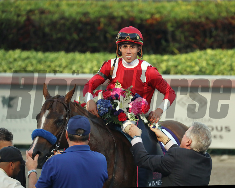 Mucho Gusto wins 2020 Pegasus World Cup Invitational. Photo: Photos by Z