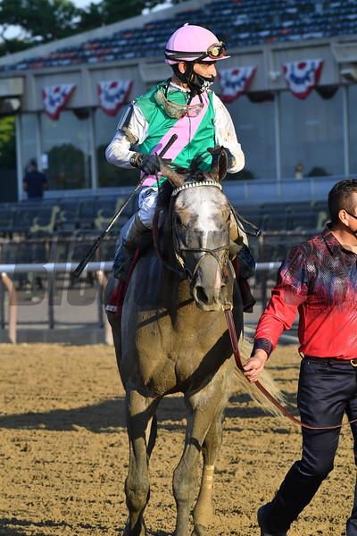 Tacitus wins the Suburban Stakes Saturday, July 4, 2020 at Belmont Park. Photo: Coglianese Photos/Joe Labozzetta