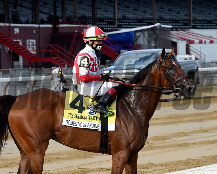 Domestic Spending wins the 2020 Saratoga Derby<br /> Coglianese Photos/Chelsea Durand