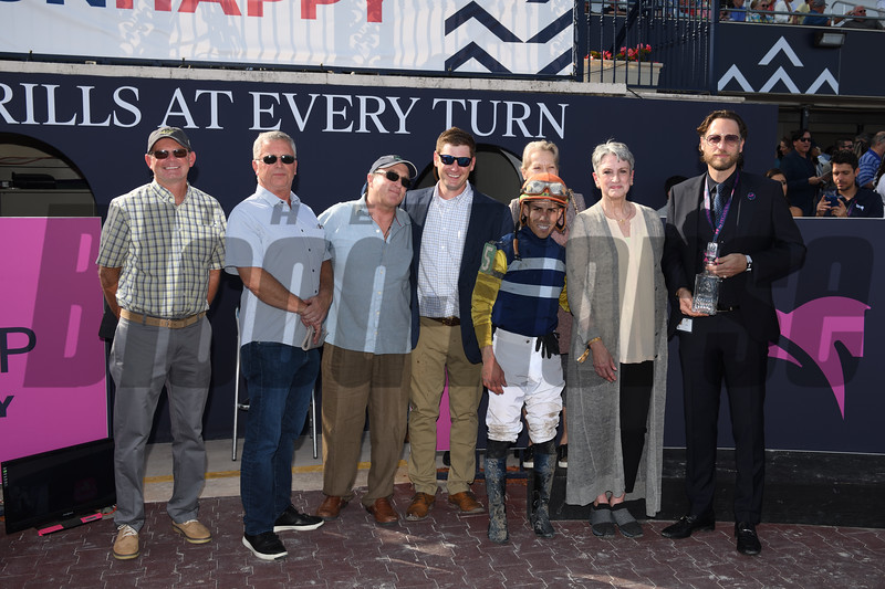 Phat Man wins the 2020 Fred W. Hooper Stakes at Gulfstream Park. Photo: Coglianese Photos