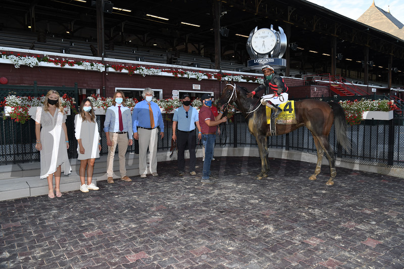 Echo Town wins the H. Allen Jerkens Stakes Saturday, August 1, 2020 at Saratoga. Photo: Coglianese Photos