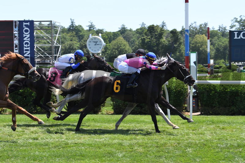 More Like It wins a maiden special weight Sunday, July 26, 2020 at Saratoga Race Course. Photo: Coglianese Photos
