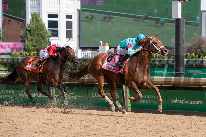 Monomoy Girl with Florent Geroux wins La Troienne Stakes (G1) at Churchill Downs, Louisville, KY on September 4, 2020. Photo: Anne M. Eberhardt