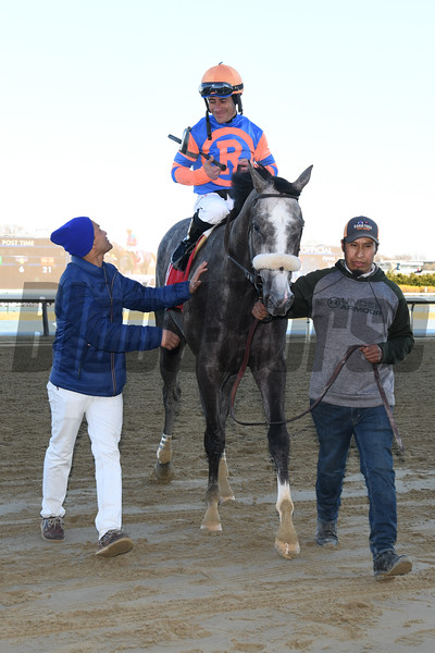 Dream Bigger wins the Damon Runyon Stakes Sunday, March 15, 2020 at Gulfstream Park. Photo: Coglianese Photos