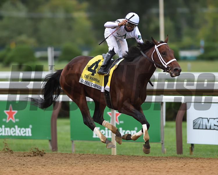 Global Campaign wins the 2020 Woodward Handicap at Saratoga<br /> Coglianese Photos