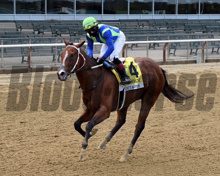 Jackie's Warrior wins the 2020 Champagne Stakes at Belmont Park<br /> Coglianese Photos/Chelsea Durand
