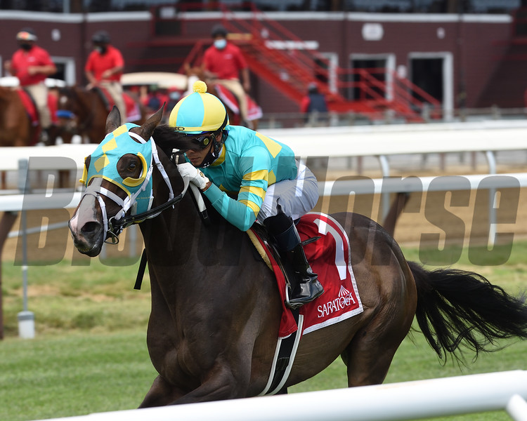 Cross Border wins the 2020 Lubash Stakes at Saratoga<br /> Coglianese Photos/Chelsea Durand