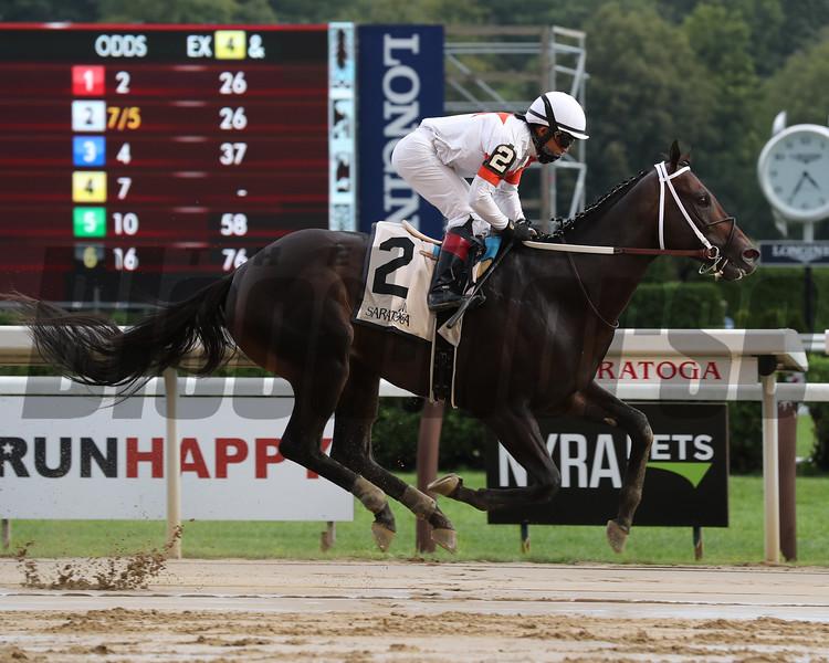 Yaupon wins the 2020 Amsterdam Stakes at Saratoga<br /> Coglianese Photos/Janet Garaguso