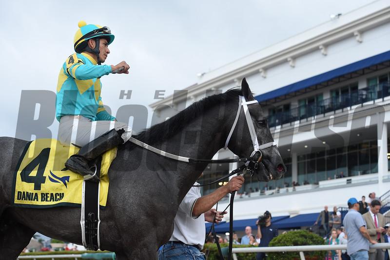 Field Pass wins the 2020 Dania Beach Stakes at Gulfstream Park. Photo: Coglianese Photos/Ryan Thompson