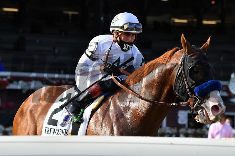Improbable wins the Whitney Stakes Saturday, August 1, 2020 at Saratoga. Photo: Coglianese Photos/Joe Labozzetta