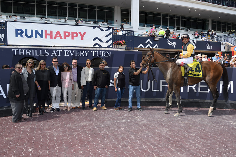 With Verve wins the 2020 Hutcheson Stakes at Gulfstream Park. Photo: Coglianese Photos