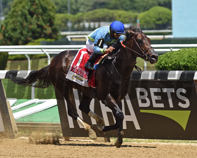 No Parole wins the 2020 Woody Stephens at Belmont Park<br /> Coglianese Photos