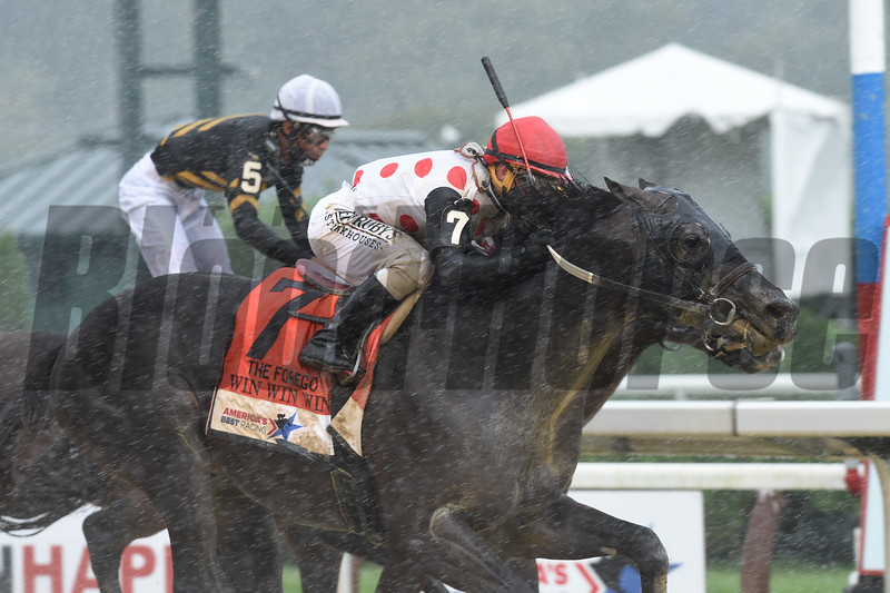 Win WIn Win wins the Forego Stakes at Saratoga<br /> Coglianese Photos
