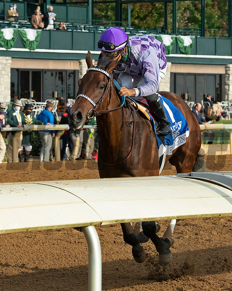 Simply Ravishing with Luis Saez wins the Darley Alcibiades (G1) at Keeneland.<br /> Opening day of the Keeneland fall meeting on October 2, 2020.