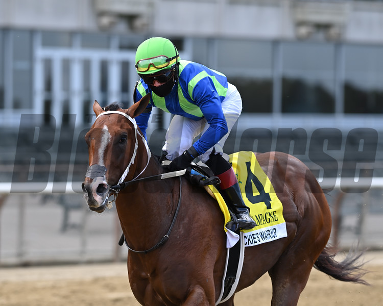 Jackie's Warrior wins the 2020 Champagne Stakes at Belmont Park<br /> Coglianese Photos/Joe Labozzetta