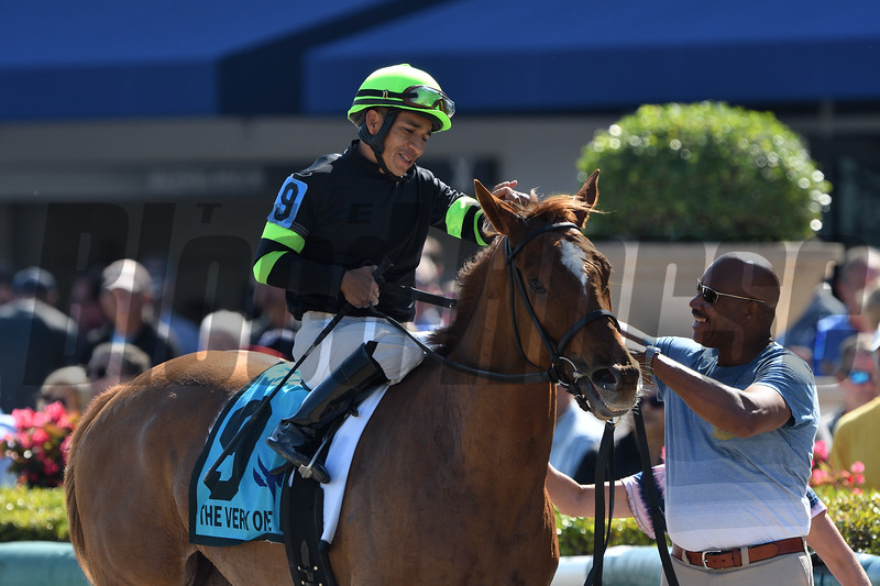 Elizabeth Way wins the 2020 The Very One Stakes at Gulfstream Park. Photo: Coglianese Photos/Derbe Glass
