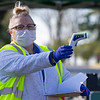 Caption: , <br /> Behind the Scenes at Keeneland during Covid19 virus and the people, horses, and essentials needed to take care of race horses on April 2, 2020 Keeneland in Lexington, KY.