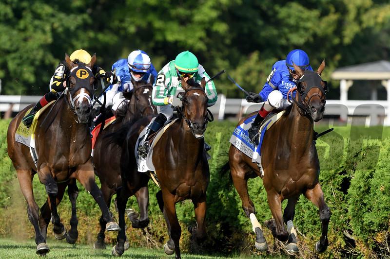 Antoinette wins the Saratoga Oaks Invitational Stakes Sunday, August 16, 2020 at Saratoga. Photo: Coglianese Photos/Dom Napolitano