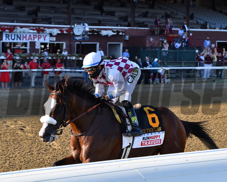 Tiz the Law wins the 2020 Travers Stakes<br /> Coglianese Photos/Chelsea Durand