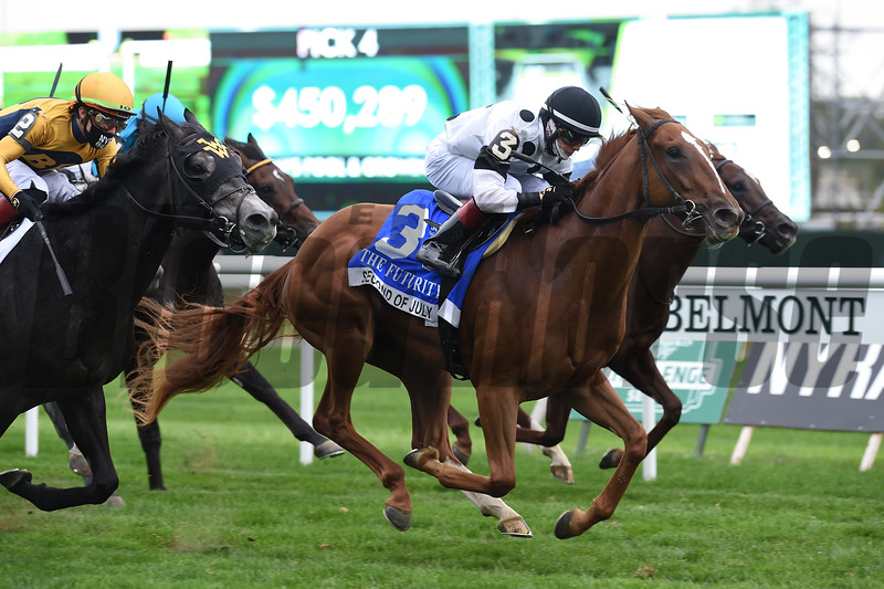 Second of July wins the 2020 Futurity Stakes at Belmont Park<br /> Coglianese Photos