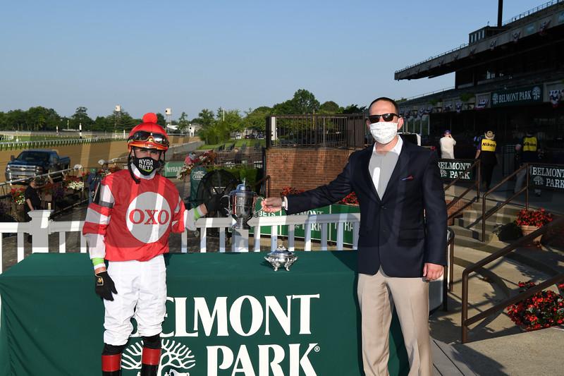 Instilled Regard wins the 2020 Manhattan Stakes at Belmont Park<br /> Coglianese Photos