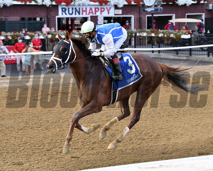 Spinoff wins the Alydar Stakes Sunday, August 9, 2020 at Saratoga Race Course. Photo: Coglianese Photos/Chelsea Durand