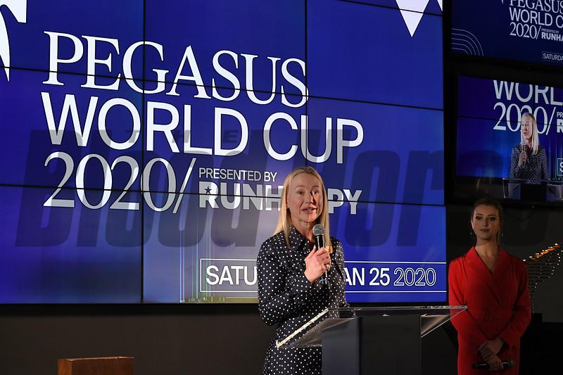 2020 Pegasus World Cup Draw<br /> Gulfstream Park, January 22, 2020<br /> Coglianese Photos