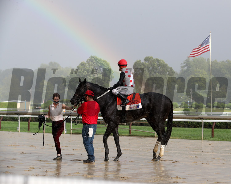 Win Win Win wins the 2020 Forego Stakes at Saratoga<br /> Coglianese Photos/Janet Garaguso