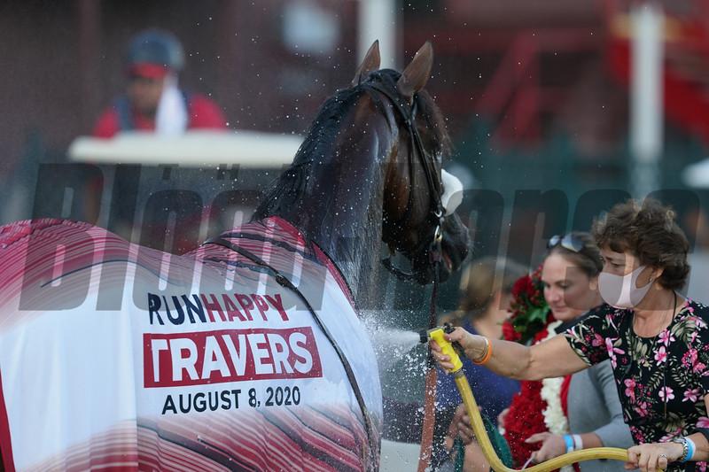 Tiz the Law wins the 2020 Travers Stakes<br /> Coglianese Photos/Arianna Spadoni