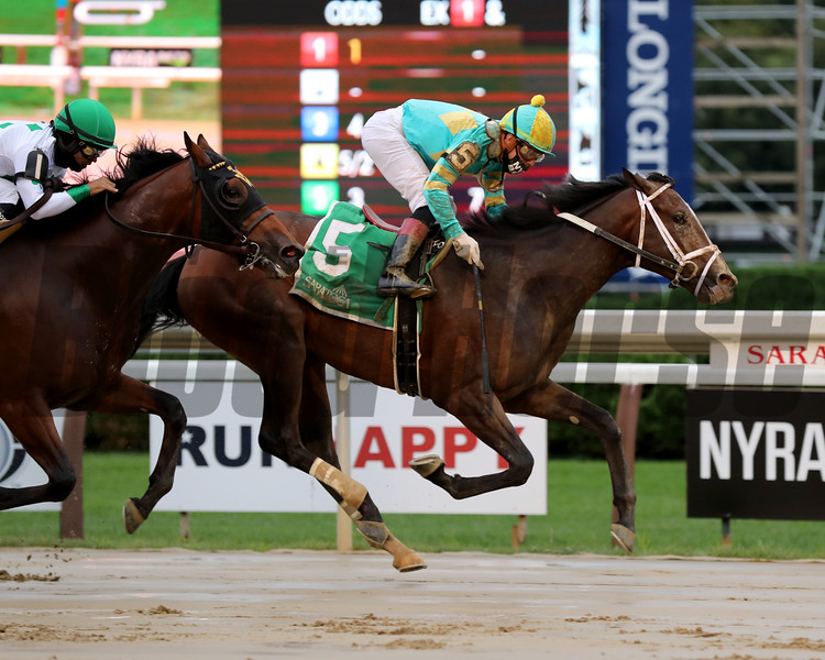 Fire At Will wins the 2020 With Anticipation Stakes at Saratoga<br /> Coglianese Photos/Janet Garaguso
