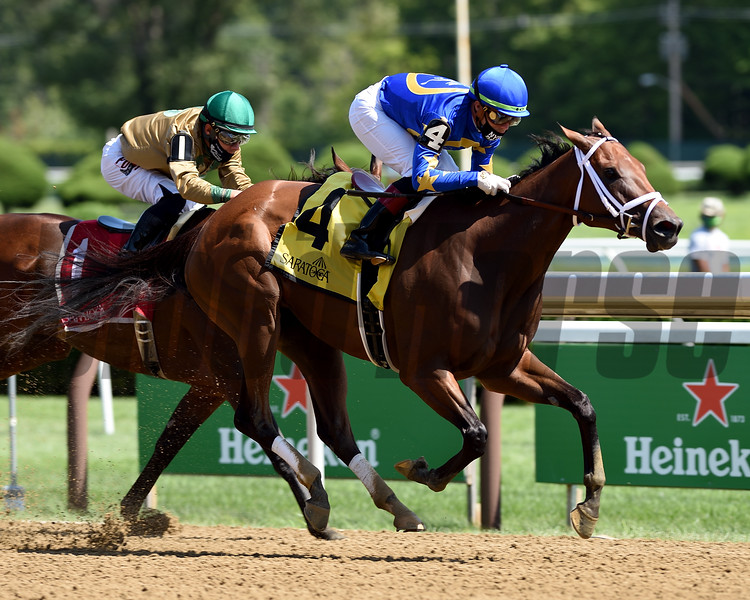 Nonna Madeline wins the 2020 Summer Colony Stakes at Saratoga<br /> Coglianese Photos