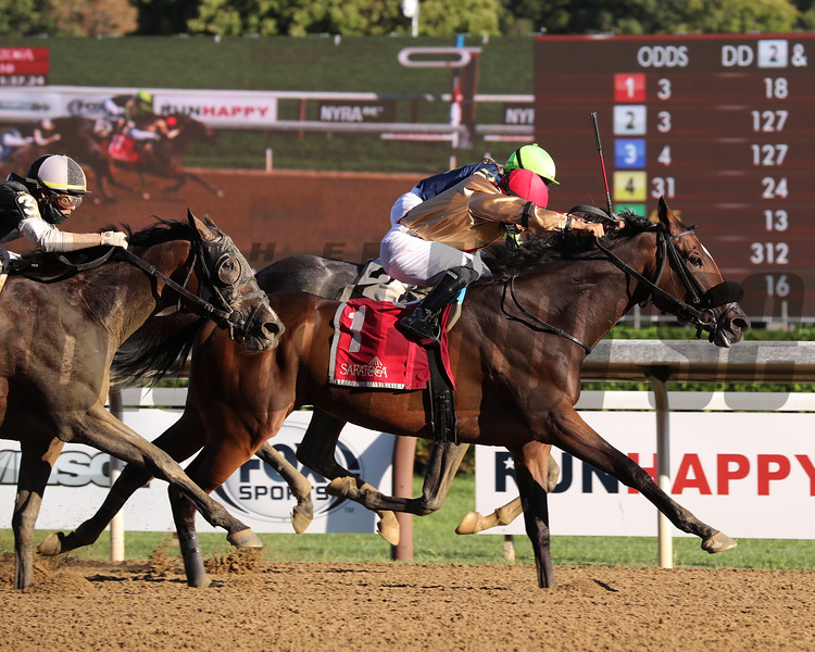 Makingcents wins the 2020 Fleet Indian Stakes at Saratoga<br /> Coglianese Photos/Janet Garaguso