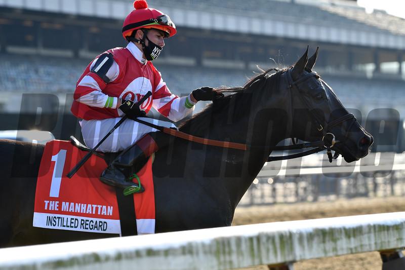 Instilled Regard wins the 2020 Manhattan Stakes at Belmont Park<br /> Coglianese Photos/Joe Labozzetta