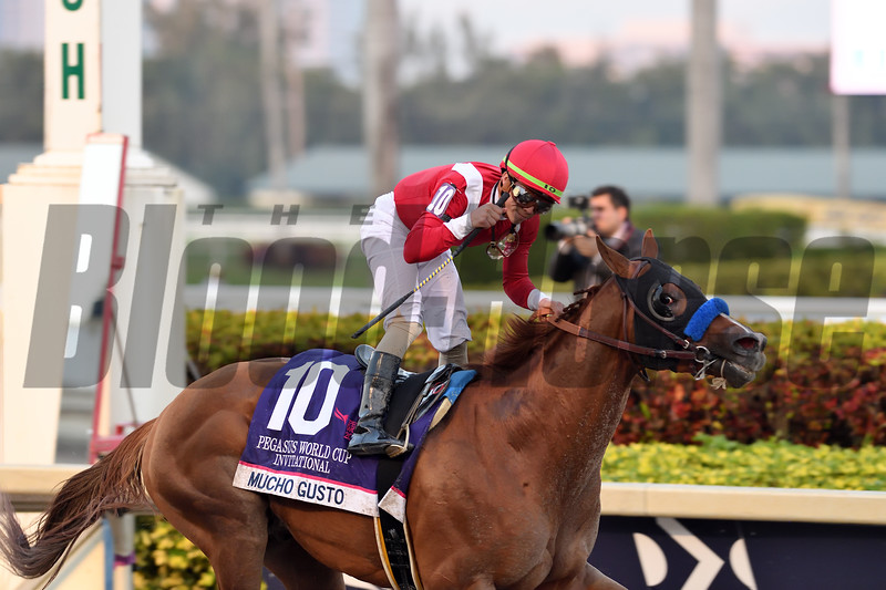 Mucho Gusto wins the 2020 Pegasus World Cup Invitational<br /> Coglianese Photos