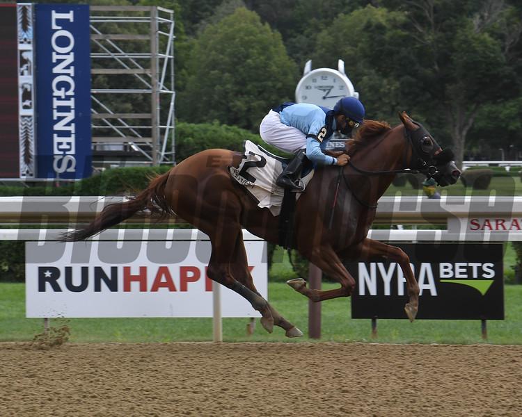Captain Bombastic wins the 2020 New York Stallion Stakes (Times Square div)<br /> Coglianese Photos