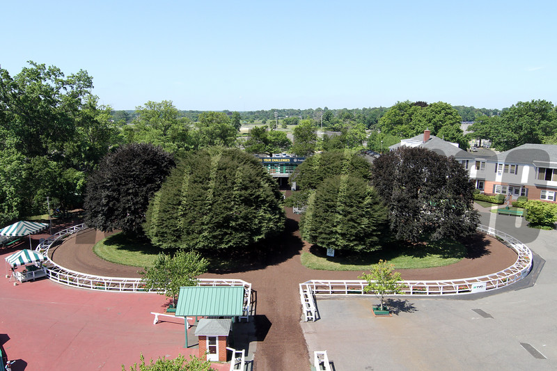 Monmouth Park paddock on Haskell day, July 18, 2020. Photo By: Chad B. Harmon