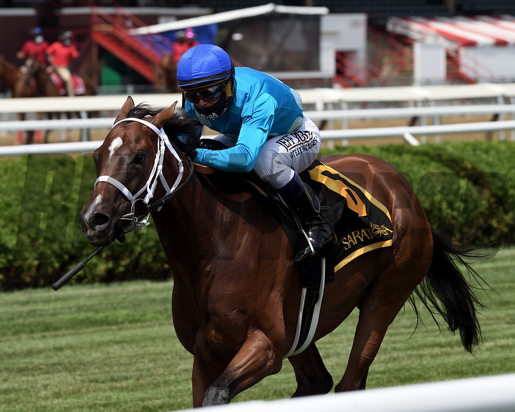 Starship Jubilee wins the 2020 Ballston Spa Stakes at Saratoga<br /> Coglianese Photos/Chelsea Durand