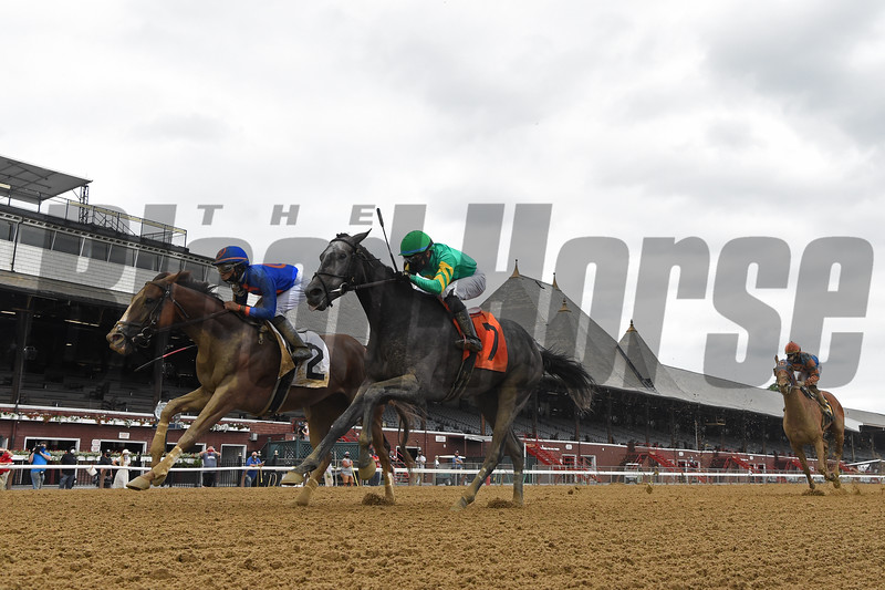 First Race of the 2020 Meet at Saratoga, won by Grit and Glory (#2).<br /> Owner: Drawing Away Stable, Trainer: Linda Rice, Jockey: Luis Cardenas <br /> Coglianese Photos