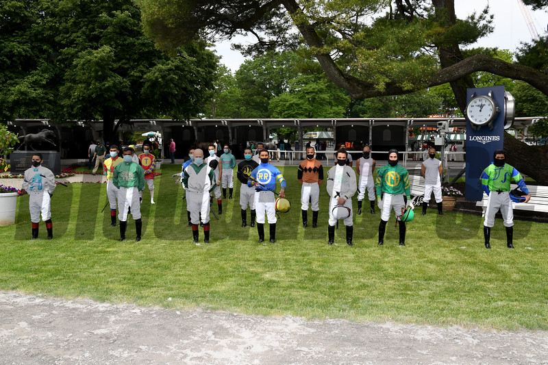 Belmont Park Opening Day, June 3, 2020 <br /> Jockeys<br /> Coglianese Photos