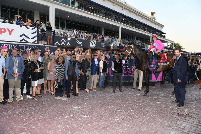Zulu Alpha wins 2020 Pegasus World Cup Turf Invitational at Gulsftream Park. Photo: Coglianese Photos